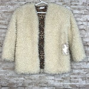 Band of Gypsies Foxy Lady Faux Wool Jacket Large